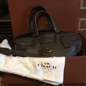 Coach purse brown leather